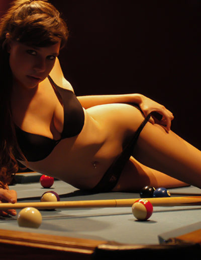 Sexy game of pool